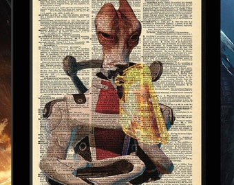 Mass Effect Inspired Mordin Vintage Dictionary Print