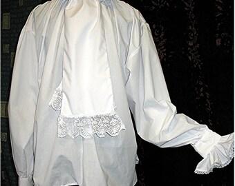 Cravat Shirt Goth Dandy Victorian Vampire Steampunk Byron Wedding OBSIDIAN Clothing