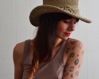 Wide Brim Hat / Sun Hat / Beach Hats / Travel and Outdoors / Organic Hemp and Cotton / Free Size / Made in USA accessories / Free Gift