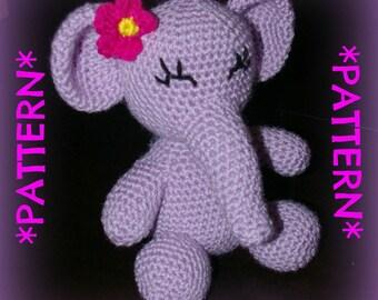 PATTERN ONLY - Crochet Elsie Elephant