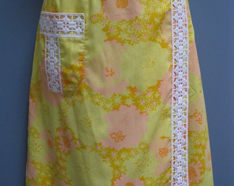 Vintage 1960's Yellow Skirt Lilly Pulitzer The Lilly Skirt