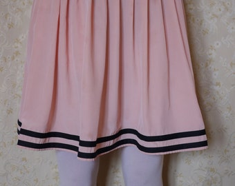 Vintage pink pleated skirt