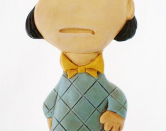 Vintage, Violet, Peanuts Character, Chalkware or Plaster, Wall Hanging