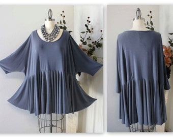 Gotta Have Oversize women Plus size Lagenlook Tunic top, full circle bottom. One size UPTO 5X