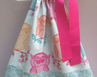 Size 18m.....Owl Pillowcase Dress...Made and ready to be shipped!