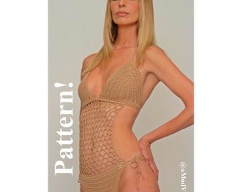 PATTERN ONLY crochet one piece swimsuit