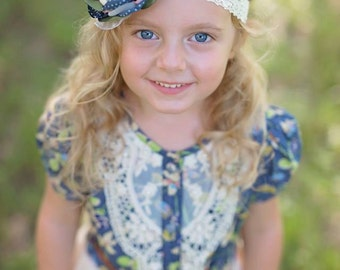 Rustic Spring Headband (made to match the Rustic Spring dress)