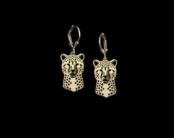 Cheetah earrings - gold.