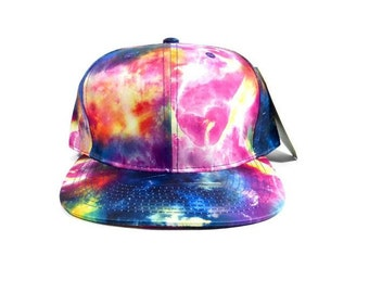 Custom Galaxy Snapback Cosmic Space Matter Colors Multicolor Snap Back