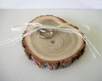 Wooden Ring Bearer Pillow Alternative Sassafras Wood Wedding Ring Holder