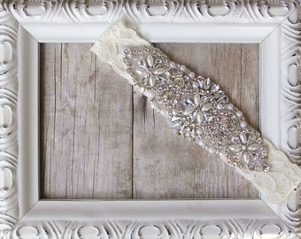 Garter, Customizable Vintage Wedding Garter, Pearl Garter, Bridal Garter, Crystal Garter, Prom Garter, wedding garter, wedding dress