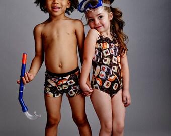 SUSHI: Girl's Tank Swimsuit