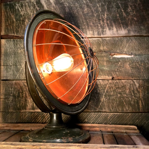 Vintage Upcycled Corona Copper Space Heater Lamp