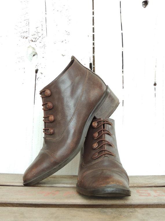 Vintage Button Boots - Sexy Porno Pics-9301