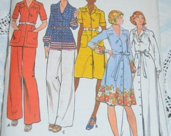 Butterick 4110 Half Size Dress Top and Pants Sewing Pattern - UNCUT - Size 16 1/2  or Size 18 1/2  or Size 20 1/2