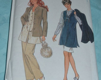 New look 6274 Misses Jacket Pants Skirt and Vest Sewing Pattern - UNCUT- Size 6 - 16