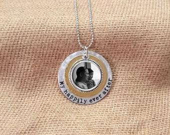 Custom Photo Necklace, Personalized keepsake, Photo jewelry, Personalized necklace, handstamped photo necklace