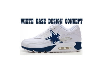 reputable site 761c8 52317 ... best price dallas cowboy custom nike air max 17349 9fa11
