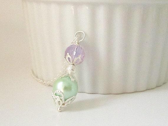 pearl bridal jewelry pastel