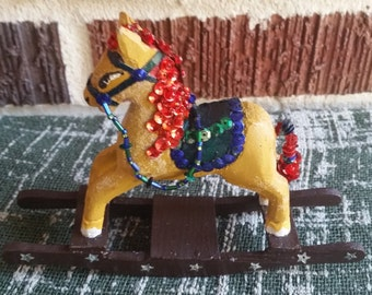 Sequined Handcrafted Rocking Horse