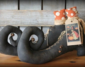 Primitive Witch Boots Halloween Decor