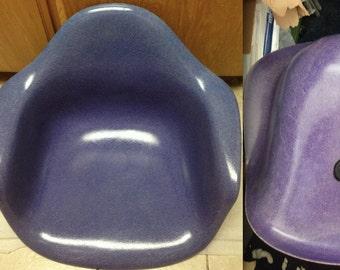 EAMES RARE PURPLE Indigo Original Vintage Fiberglass Herman Miller Chair Highly Collectible Armshell Stunning Scarce Color