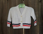 Vintage Red, White & Blue Cardigan - Size 3T