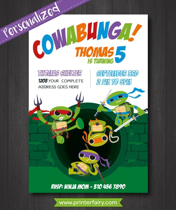 Personalized Ninja Turtle Invitations was perfect invitations design