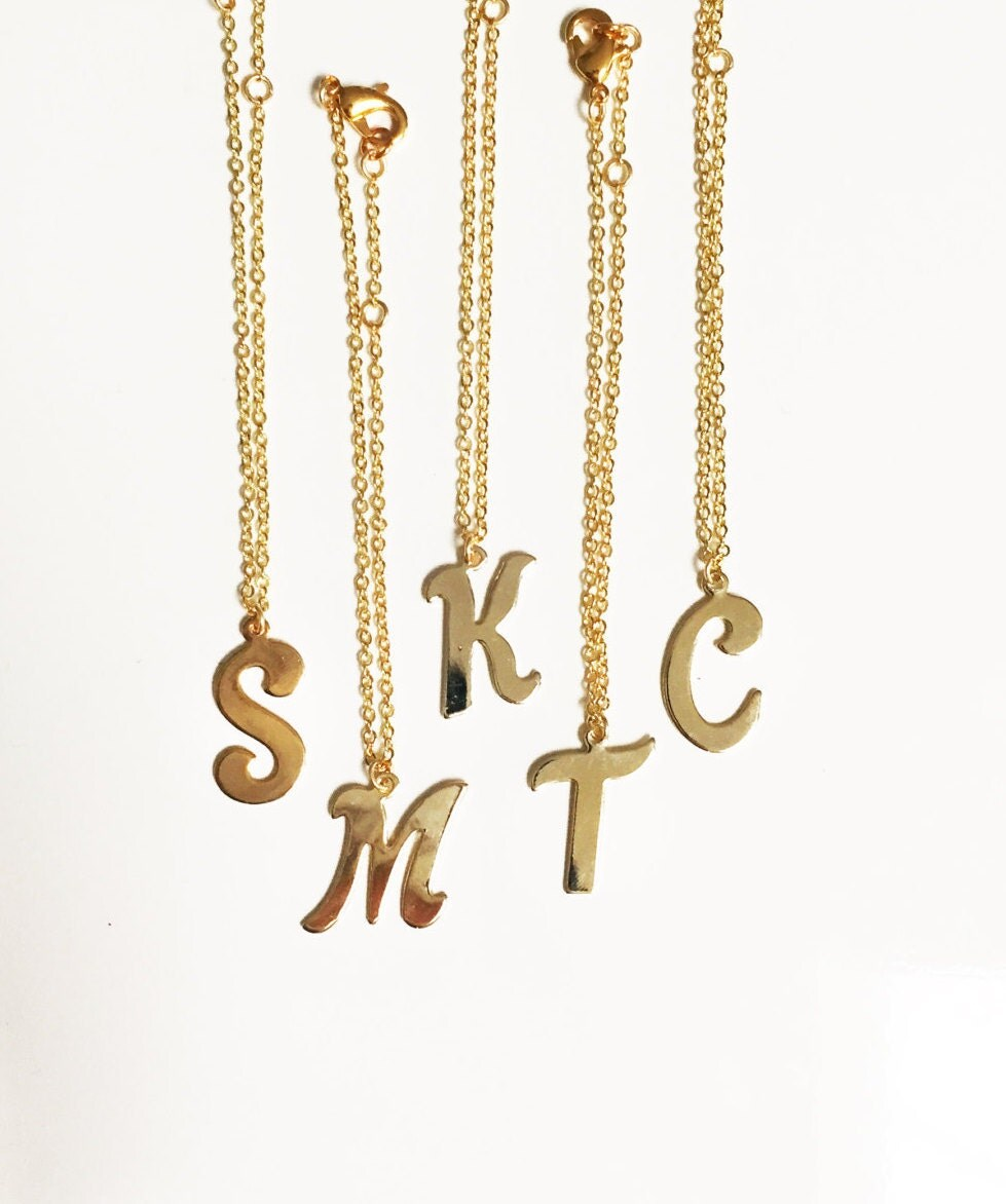 Carly Gold Initial Delicate Chain Bracelet