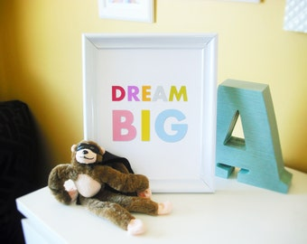 Dream Big Nursery Print 8x10 Gallery Wall Art Poster