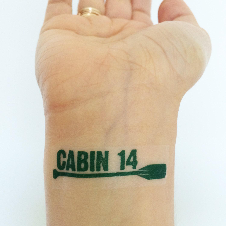 15 custom camp temporary tattoos for the whole cabin canoe for Canoe paddle tattoo