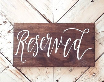 Wedding Reserved Signs, Rustic Wedding Signs, Wedding Aisle Signs, Rustic Wedding Decor