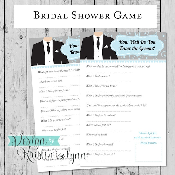 How Well Do You Know The Groom Bridal By DesignbyKristinLynn