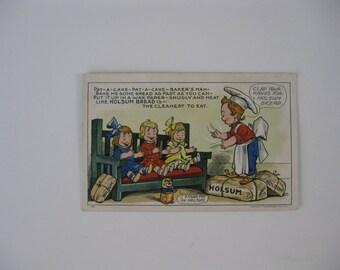 Holsum Bread - 1909 Advertising Post Card - Unused