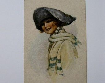 Vintage Post Card - Kommst Du Mit? - Published by ARandCiB Series 1355 - Used - 1910s