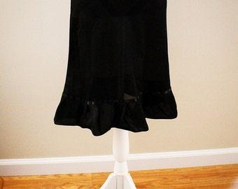 Black Chiffon Dress/Skirt Extender
