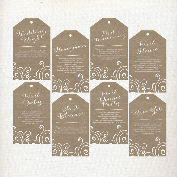 Free Printable Bridal Shower Wine Tags Firsts | just b.CAUSE