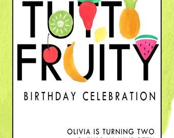 Tutti Fruity birthday Invitation (digital file)
