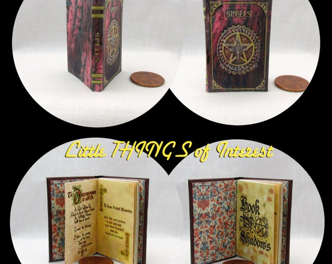 BOOK of SHADOWS Magic Spell Book 1:6 - Play - Barbie Scale Readable Illustrated Book
