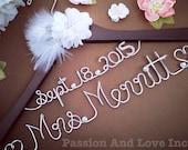 Personalize Wedding Gown Hanger-Bridal Hanger-Name Hanger-Unique Hanger- Heirloom- Choose your favorite- Customize yours today
