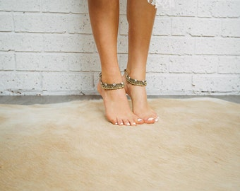 Silver anklet, gold anklet, diamond flower anklet, Indian anklet, prom jewelery, formal jewelley, Silver bells, charms Style: 'Sienna A1417'