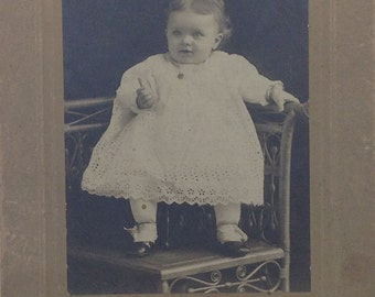 Vintage Photograph, Early 1900s Baby, Antique Paper Ephemera