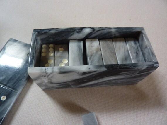 Vintage Marble Mini Domino Table Top Set