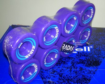 RIEDELL RADAR ZEN 62mmX85mm 85A Blue Speed Roller Derby Skate Wheels 8 Pack Deadstock New Sealed Speed Skate Wheels