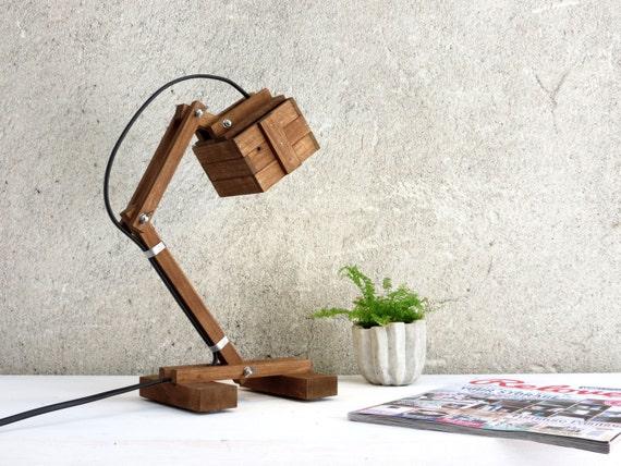 Kran VI, desk lamp, adjustable lamp, wood reading working minimal geometric light office home decor minimal clean design wooden, Paladim
