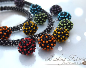 DIY Beading Tutorial Candy beaded bead, necklace and bracelet beading pattern, RAW tutorial