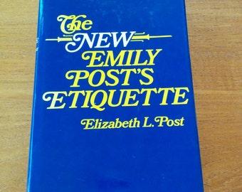 Emily Post Etiquette Book 1970s