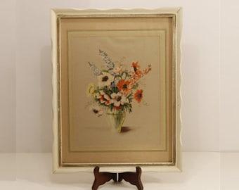 SALE:  50% OFF  --  Antique Framed Print, Flower Print, Floral Still Life Print, Framed Floral Print