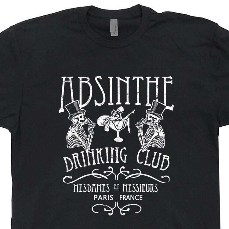 Absinthe T Shirt Vintage T Shirts Absinthe Drinking Club T