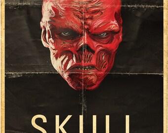 Red Skull Propoganda poster